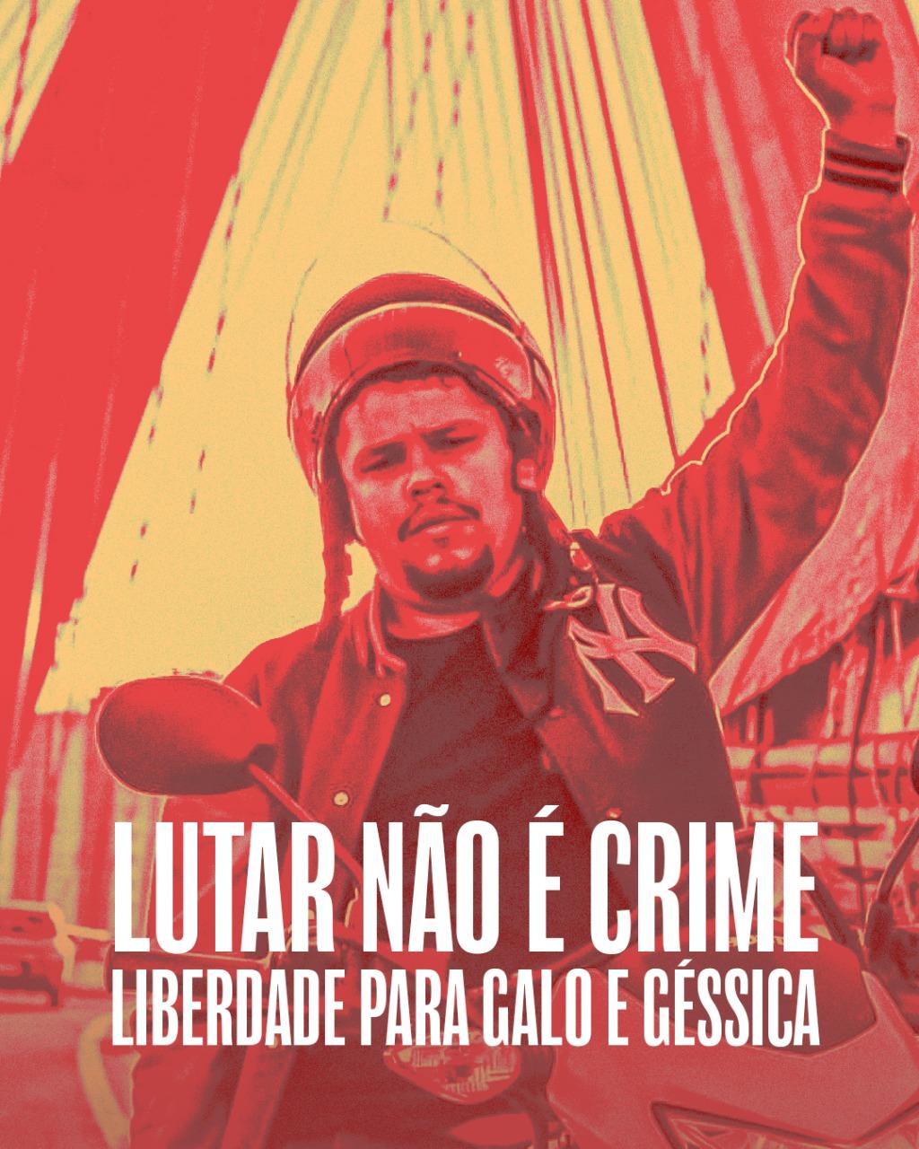 Nota dos movimentos: Liberdade Para Paulo Galo e Gessica