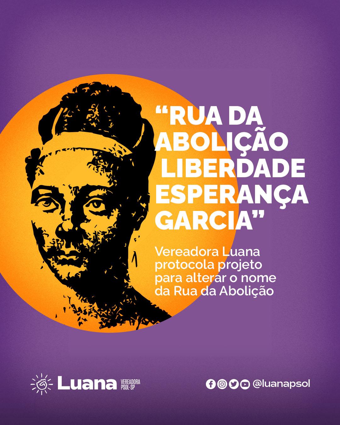 Projeto de Lei da vereadora Luana Alves sugere mudança de nome de rua em homenagem à primeira advogada negra brasileira